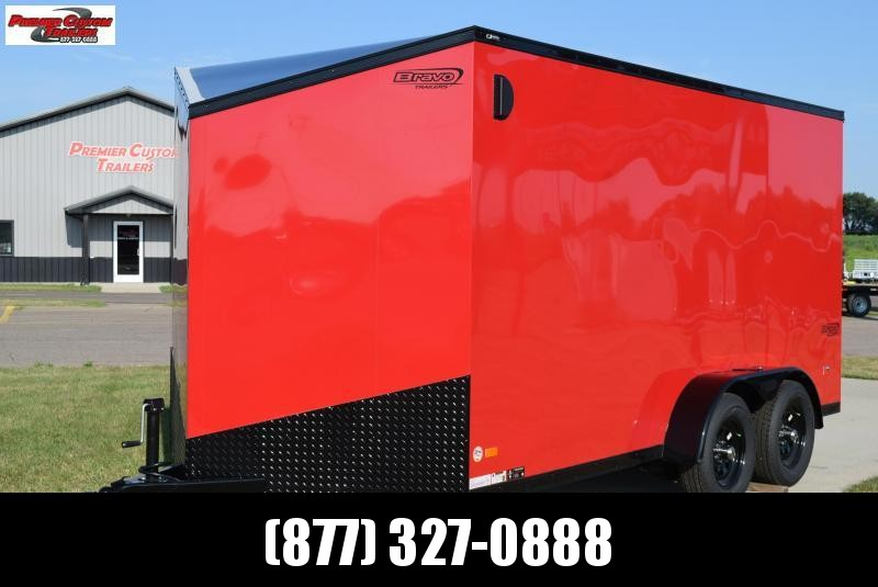 BRAVO 7x14 SCOUT MIDNIGHT EDITION ENCLOSED CARGO TRAILER