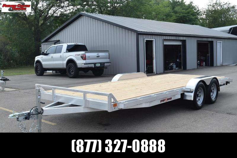 2021 SPORT HAVEN 20' ALUMINUM OPEN CAR HAULER w/ WOOD DECK