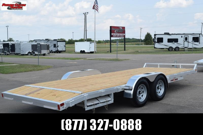 SPORT HAVEN 20' ALUMINUM OPEN CAR HAULER w/ WOOD DECK
