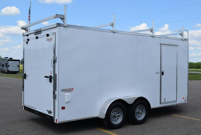 2020 BRAVO SCOUT 7x16 ENCLOSED CONTRACTOR TRAILER