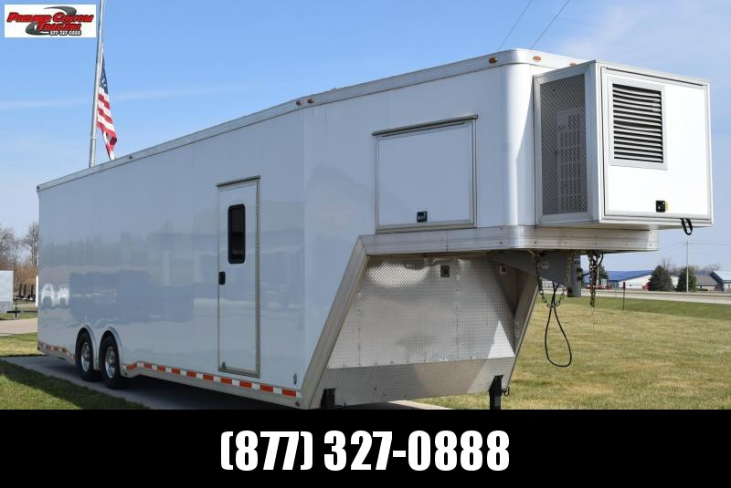 USED 2014 ATC 36' QUEST ALUMINUM GOOSENECK ENCLOSED CAR HAULER