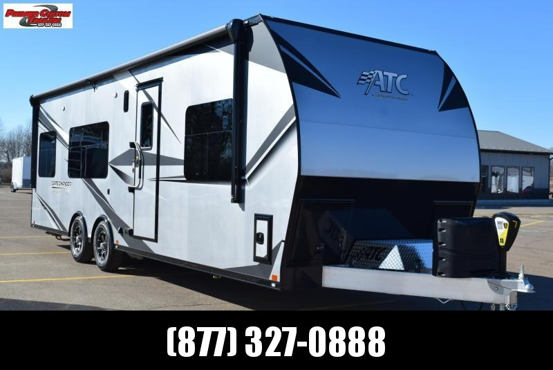 ATC 28' GAME CHANGER PRO SERIES TOY HAULER W/ FRONT BEDROOM AND ONAN GENERATOR