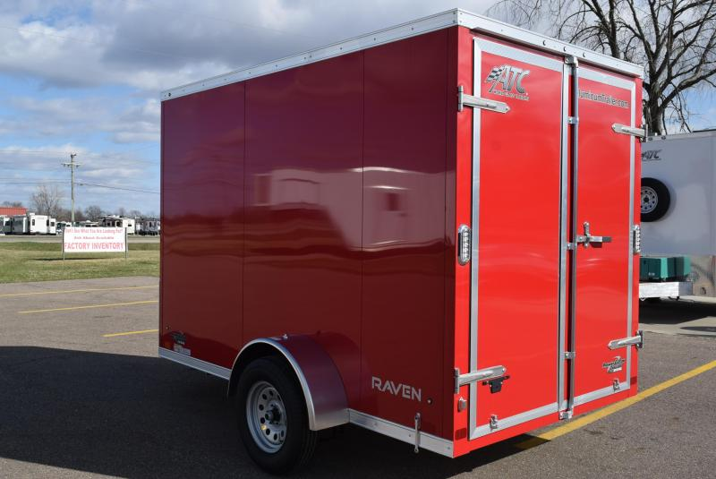 ATC 6x10 RAVEN ALUMINUM CARGO TRAILER W/ DOUBLE DOORS