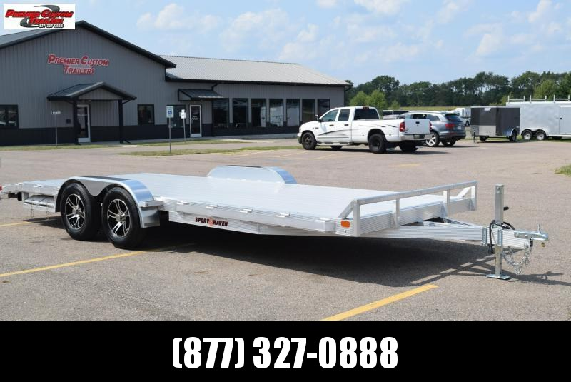SPORT HAVEN 20' DELUXE ALUMINUM OPEN CAR HAULER