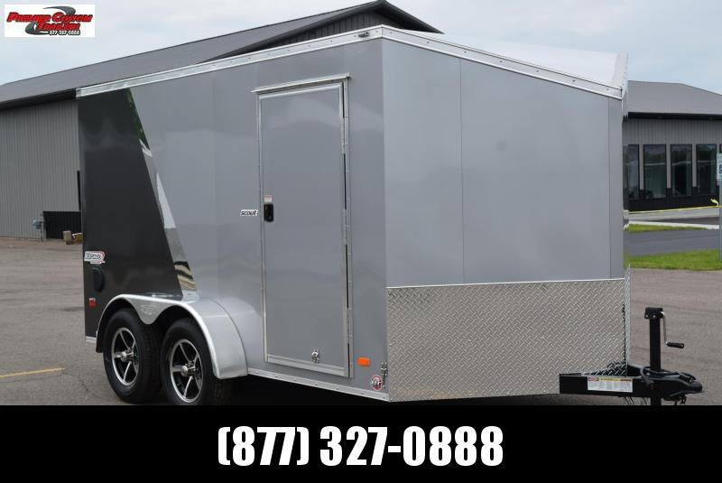 BRAVO SCOUT 7x12 ENCLOSED MOTORCYCLE TRAILER