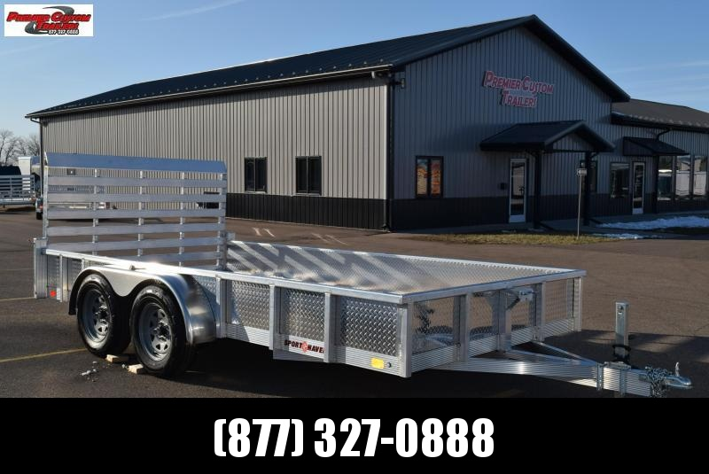 SPORT HAVEN 7x14 OPEN UTILITY TRAILER w/ SIDES