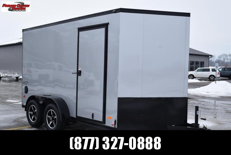 BRAVO 7x12 SCOUT *MIDNIGHT EDITION* ENCLOSED CARGO TRAILER