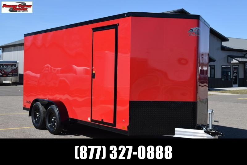 2020 ATC ALL ALUMINUM 7x16 RAVEN ENCLOSED CARGO TRAILER **BLACKOUT PACKAGE**