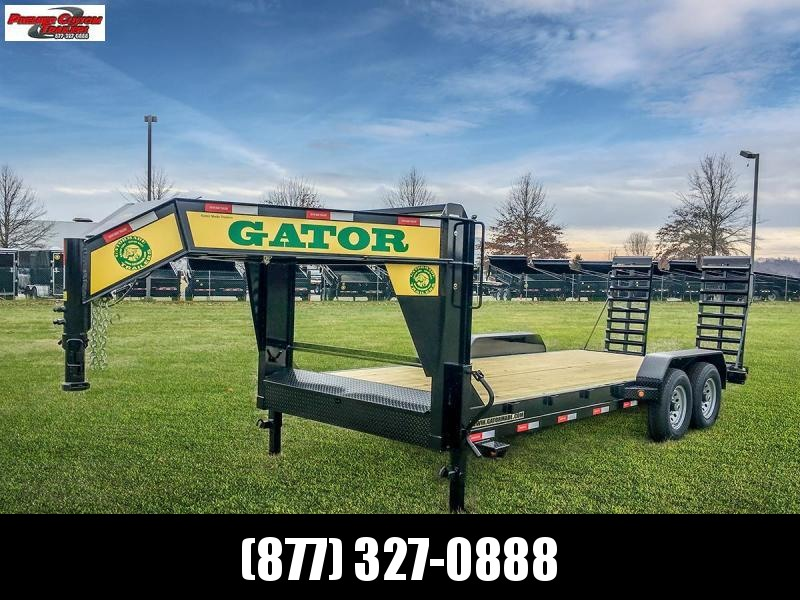 GATORMADE 18+2 TANDEM 16K  LOW PRO GOOSENECK HEAVY EQUIPMENT TRAILER