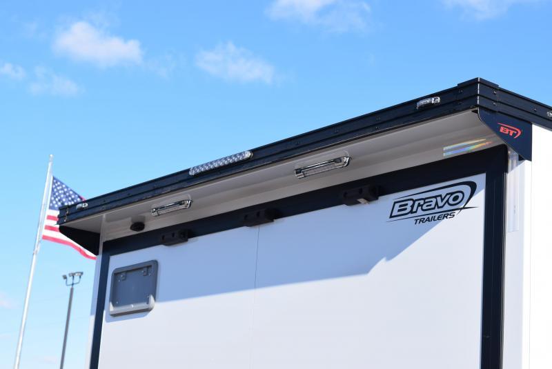 BRAVO 32' STP ENCLOSED RACE TRAILER w/ TRIPLE 6000# AXLES