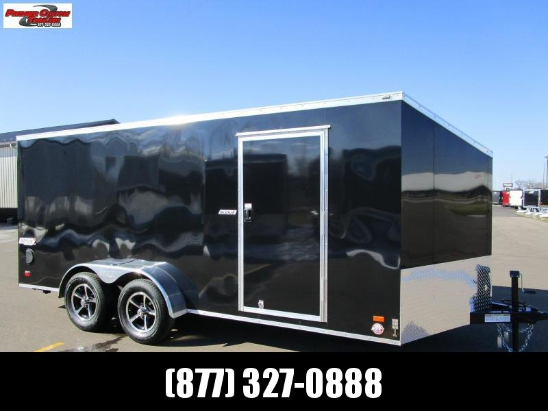 2021 BRAVO SCOUT 7x16 ENCLOSED MOTORCYCLE TRAILER