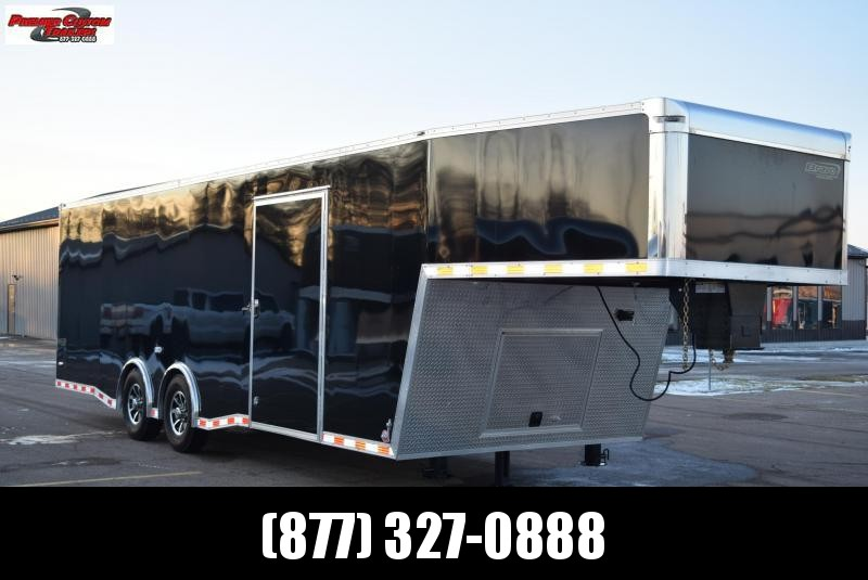 USED 2019 BRAVO STAR 32' FIFTH WHEEL ENCLOSED CAR HAULER