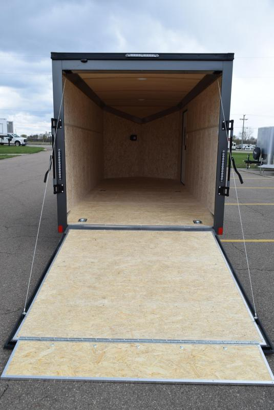 BRAVO 7x16 SCOUT *MIDNIGHT EDITION* CARGO TRAILER W/ BEAVERTAIL FLOOR