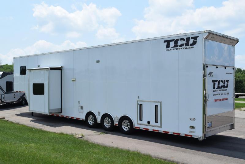 USED 2017 ATC 8.5x46 QUEST CUSTOM RACE TRAILER W/ LIVING QUARTERS