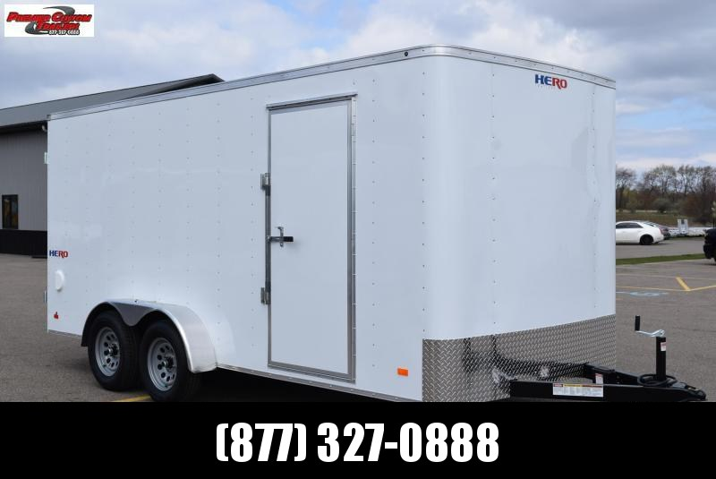 BRAVO HERO 7x16 ENCLOSED CARGO TRAILER W/ DOUBLE DOORS