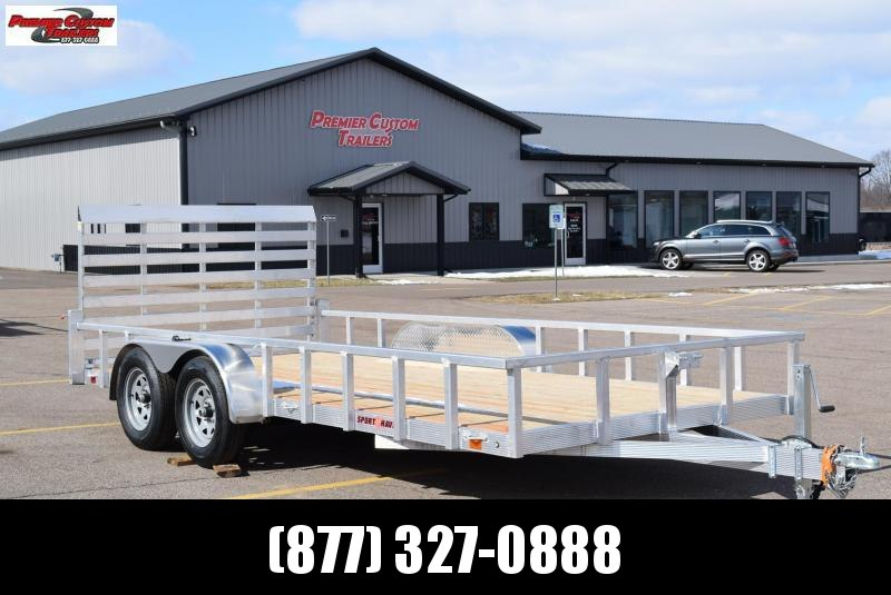 SPORT HAVEN 7x16 OPEN UTILITY TRAILER