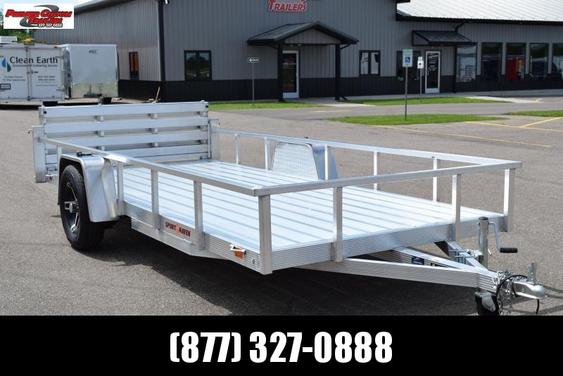 SPORT HAVEN 6x14 DELUXE SERIES UTILITY TRAILER w/ BI-FOLD RAMP