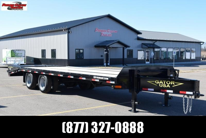 2020 GATORMADE 20'+5' PINTLE 22K EQUIPMENT TRAILER
