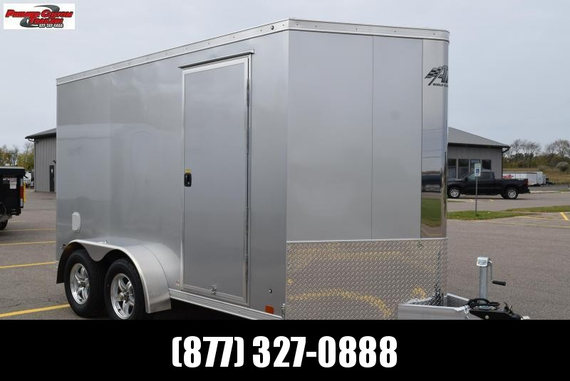 ATC 7x12 RAVEN ENCLOSED TRAILER w/ FINISHED INTERIOR