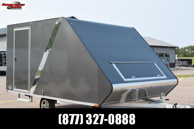 SPORT HAVEN 13' HYBRID DELUXE ENCLOSED SNOWMOBILE TRAILER