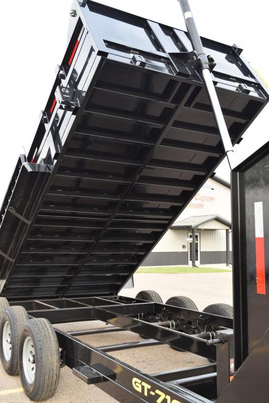 GRIFFIN 16' GOOSENECK TELESCOPING DUMP TRAILER w/ 14,000LB DUMP CAPACITY