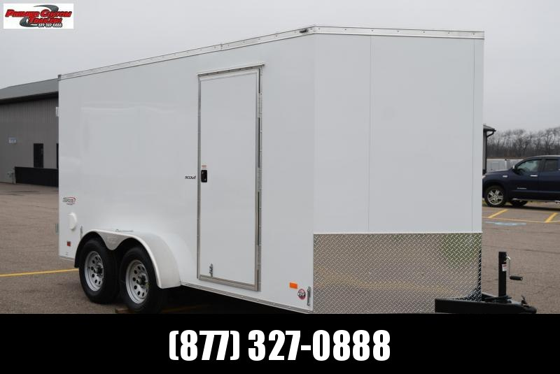 2021 BRAVO 7x14 SCOUT ENCLOSED CARGO TRAILER W/ REAR DOUBLE DOORS