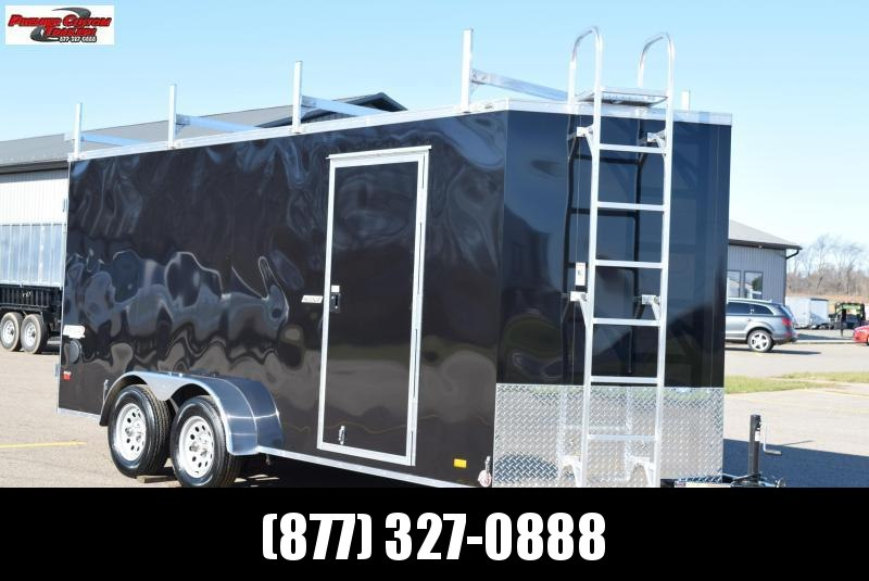 BRAVO 7x16 SCOUT ENCLOSED CONTRACTOR TRAILER W/ DOUBLE DOORS