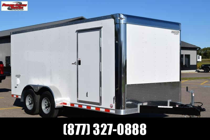BRAVO 7x16 STAR COMMERCIAL SERIES ENCLOSED CARGO TRAILER w/ 5200LB AXLES