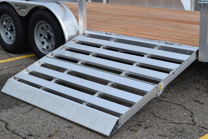 SPORT HAVEN 7x14 OPEN UTILITY TRAILER w/ BI-FOLD SIDE RAMP GATE