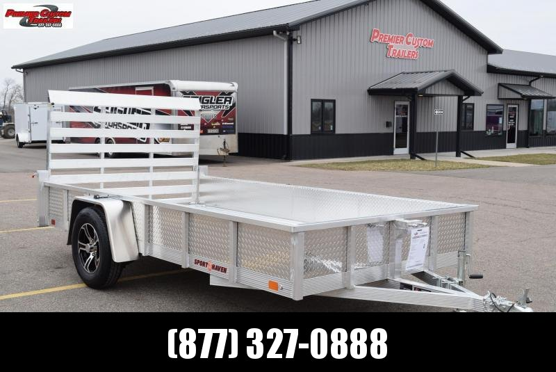 SPORT HAVEN 6x12 DELUXE SERIES UTILITY TRAILER w/ SIDE PANELS