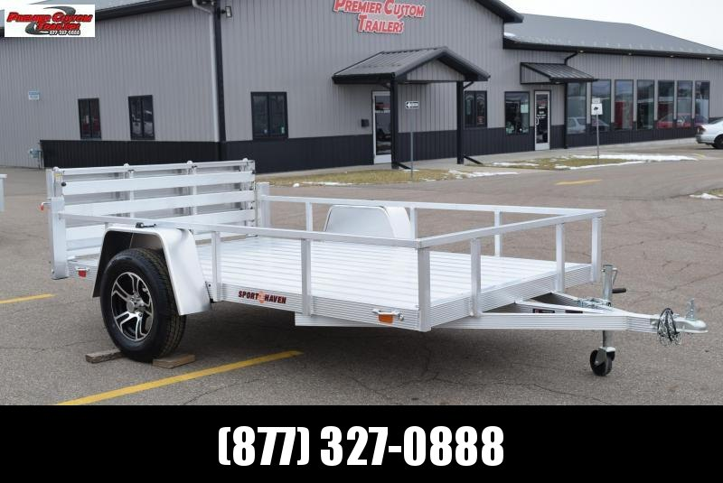 SPORT HAVEN 6x10 DELUXE SERIES UTILITY TRAILER W/ BI-FOLD RAMP GATE