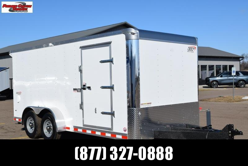 BRAVO 7x16 BRUTE HEAVY DUTY CARGO TRAILER W/ SCISSOR LIFT PACKAGE