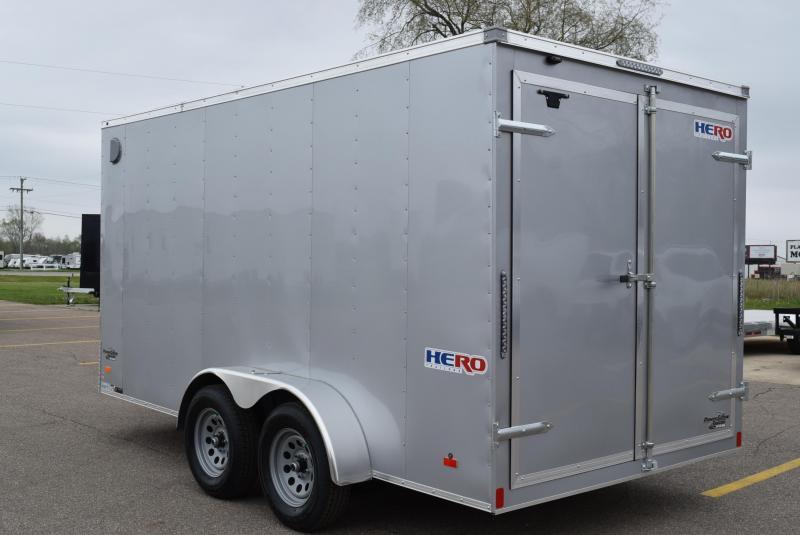 BRAVO HERO 7x14 ENCLOSED CARGO TRAILER w/ REAR DOUBLE DOORS