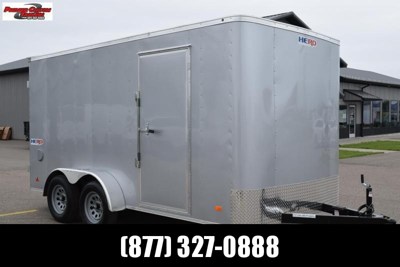 BRAVO HERO 7x14 ENCLOSED CARGO TRAILER w/ REAR DOUBLE DOORS