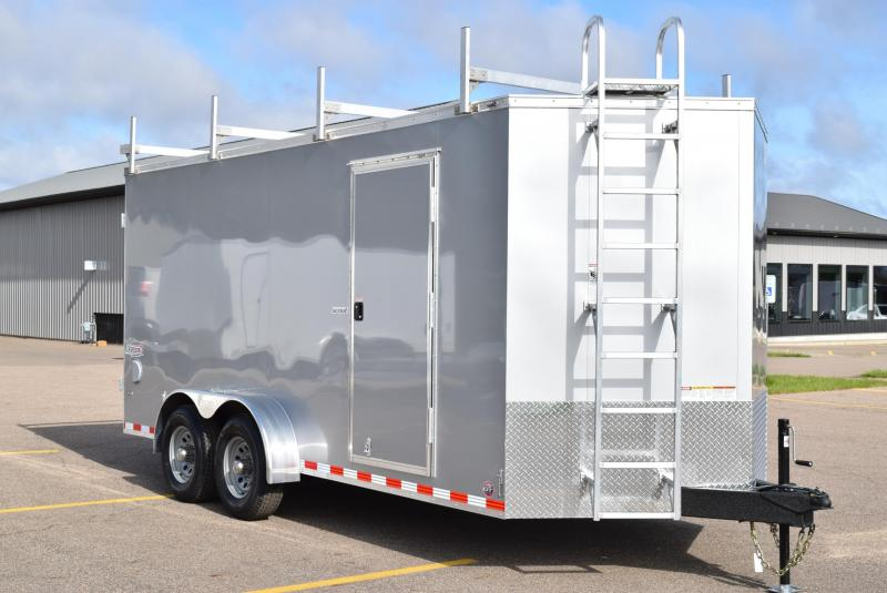 BRAVO SCOUT 7x16 CONTRACTOR TRAILER w/ 5200# AXLES