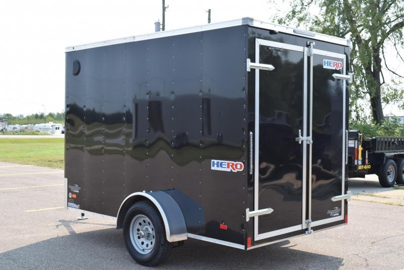 BRAVO HERO 6x10 ENCLOSED CARGO TRAILER w REAR DOUBLE DOORS