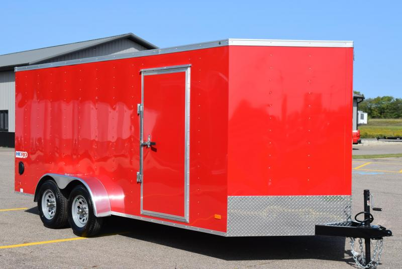 2021 BRAVO HERO 7x16 ENCLOSED CARGO TRAILER