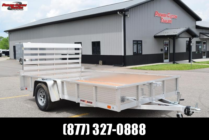 SPORT HAVEN 7x12 OPEN UTILITY TRAILER W/ SIDES