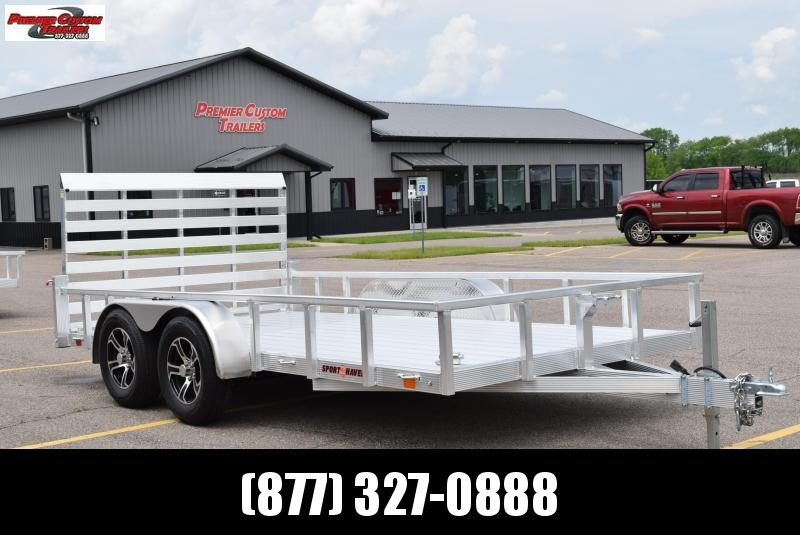 SPORT HAVEN 7x14 DELUXE SERIES UTILITY TRAILER