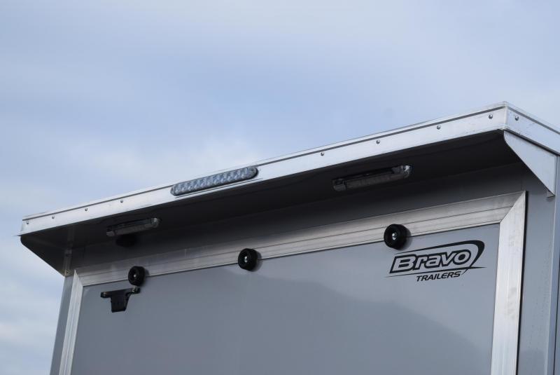 BRAVO 22'+5' SILVER STAR ALUMINUM SNOWMOBILE/UTV TRAILER