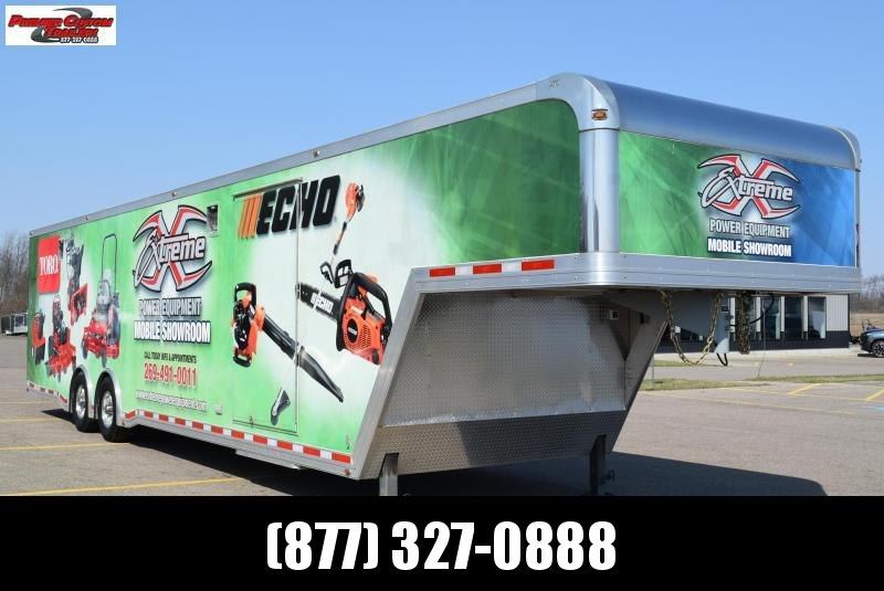 USED 2015 ATC 40' QUEST 305 GOOSENECK ENCLOSED RACE TRAILER **WRAP WILL BE REMOVED**