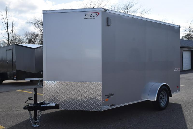 BRAVO 7x12 SCOUT ENCLOSED CARGO TRAILER W/ ELECTRIC BRAKES
