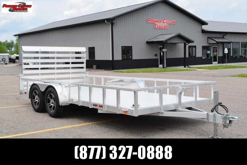 2021 SPORT HAVEN 7x16 DELUXE SERIES UTILITY TRAILER