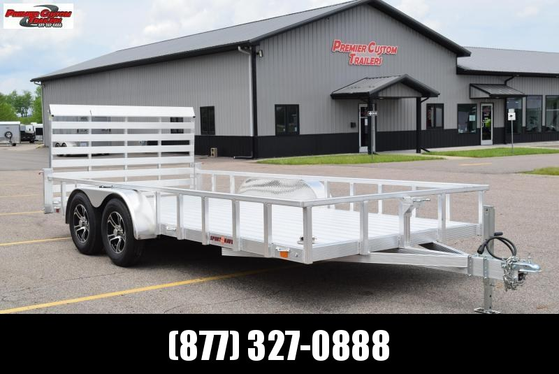 SPORT HAVEN 7x16 DELUXE SERIES UTILITY TRAILER
