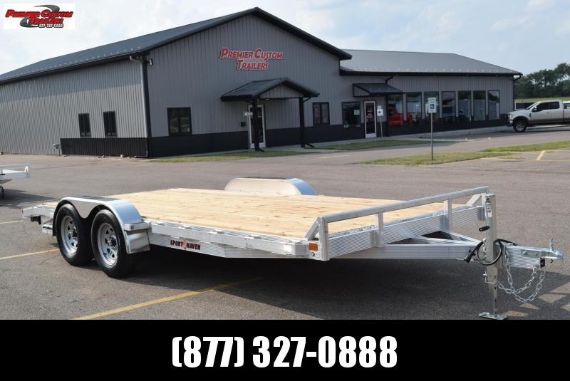 2021 SPORT HAVEN 18' ALUMINUM OPEN CAR HAULER w/ WOOD DECK