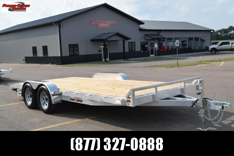 SPORT HAVEN 18' ALUMINUM OPEN CAR HAULER w/ WOOD DECK