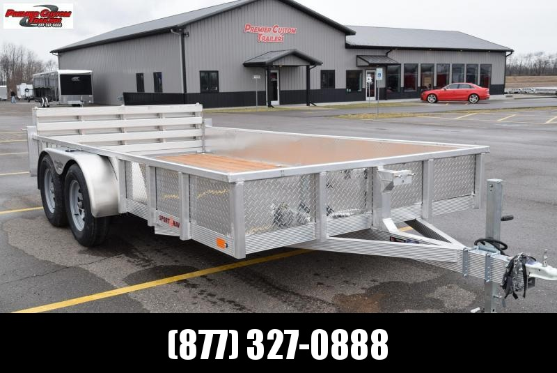 SPORT HAVEN 7x14 OPEN UTILITY TRAILER w/ SIDES AND BI-FOLD GATE