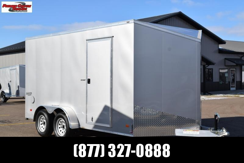BRAVO 7x14 SILVER STAR ALUMINUM CARGO TRAILER W/ BEAVERTAIL FLOOR