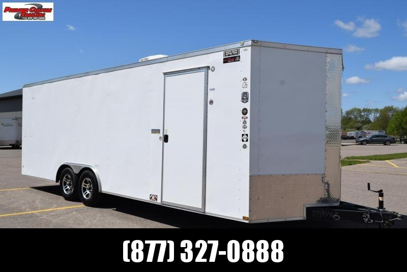 USED 2018 WOW CARGO 8.5x24 ENCLOSED CAR HAULER