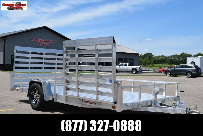 SPORT HAVEN 7x14 DELUXE SERIES UTILITY TRAILER W/ SIDE RAMP